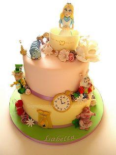 Alice in the wonderland cake | Flickr - Photo Sharing!