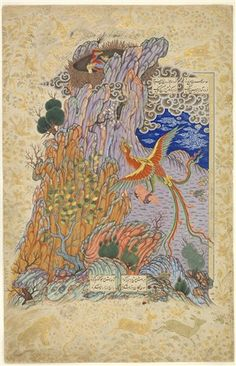Zal Rescued by the Simurgh Book of Kings Attributed to Sadiqi Bek Late 16th Century, Iran