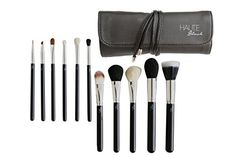 Haute Blush Pro Makeup Brushes  11 Piece Makeup Brush Set with Black Leather Case  High Quality SyntheticNatural Hair Includes Foundation Blending Blush Eyeliner Face Powder Brushes  Get Flawless Makeup Application Now >>> Click image for more details. (Note:Amazon affiliate link)