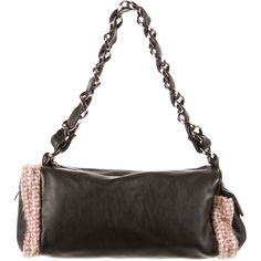 Pre-owned Chanel Tweed Chain Shoulder Bag ($650) ❤ liked on Polyvore featuring bags, handbags, shoulder bags, black, tweed handbag, flap handbags, black chain shoulder bag, chain strap shoulder bag and preowned handbags