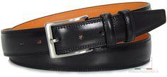 Herrengürtel schwarz mit innen-seite orange von designer Acciaio Alessandro | made in Italy