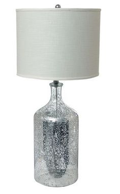 Fusion Collection Antique Mercury Glass Table Lamp