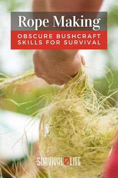 Rope making and other bushcraft skills to survive in the wilderness. #ropemaking #bushcraftskills #bushcraft #survivalskills #survival #survivallife Survival Hacks, Survival Life, Camping Survival, Survival Gear, Survival Skills, Life Tips, Life Hacks, Rope Making, Bushcraft Skills