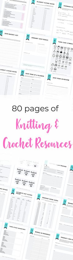 80 pages of knitting and crochet resources! These crochet cheat sheets, knitting abbreviations, sizing guides, and more will be your #1 tool to making more and even starting your handmade business this year! Click to find out more! Quick Crochet Patterns, Free Crochet, Crochet Ideas, Knit Crochet, Knitting Abbreviations, Crochet Symbols, Crochet Supplies, Types Of Yarn, Crochet Potholders