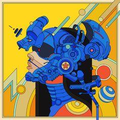 Illustration for cover EP / Shapeshifter 1 : Construct 💥 Art Et Illustration, Illustrations, Art Pop, Vaporwave, Art Cyberpunk, Closer, Artist Project, Pop Art Wallpaper, Drawn Art