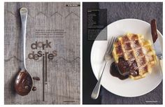 waffle and chocolate goodness.