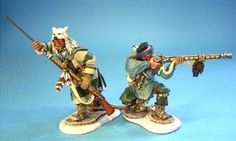 French & Indian War SWI01 Woodland Indians Skirmishing set 1 - Made by John Jenkins Designs Military Miniatures and Models. Factory made, hand assembled, painted and boxed in a padded decorative box. Excellent gift for the enthusiast.