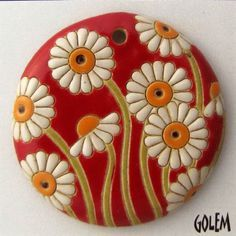 Ceramic beads - interview with Vladislav Ivanov and Kremena Ivanova from Golem Design Studio & Giveaway! Ceramic Pendant, Ceramic Jewelry, Ceramic Beads, Ceramic Clay, Ceramic Pottery, Slab Pottery, Polymer Beads, Polymer Clay Crafts, Clay Beads