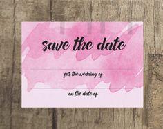 Rose Pink Wedding Save the Date www.etsy.com/uk/shop/PippinPrints