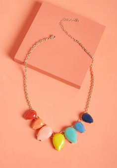 Rainbow in Tow Statement Necklace