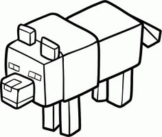 how to draw a minecraft wolf step 6