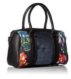 #Desigual Tasche - Modell Malta Gianna. Muster: floral, ethnisch, exotisch, schwarz.
