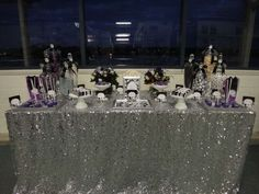 Purple Black White and Silver Birthday Party Ideas Birthday