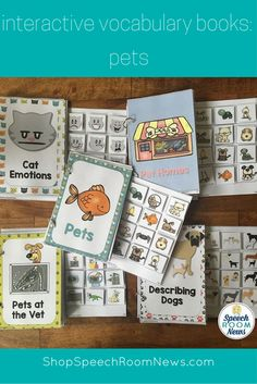 Pets interactive books are perfect for animal units or the family unit to talk about animals at home. These velcro books are perfect for minimally verbal children.