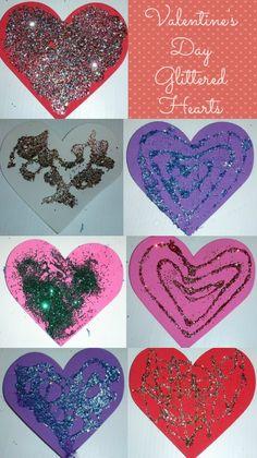 Valentine's Glittered Hearts
