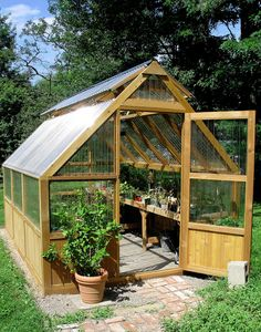 Amazing Shed Plans - DIY Greenhouse - Now You Can Build ANY Shed In A Weekend Even If You've Zero Woodworking Experience! Start building amazing sheds the easier way with a collection of shed plans! Diy Greenhouse Plans, Backyard Greenhouse, Diy Shed Plans, Backyard Sheds, Greenhouse Wedding, Simple Greenhouse, Homemade Greenhouse, Greenhouse Kitchen, Portable Greenhouse