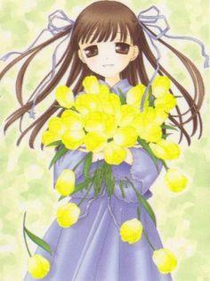 Honda Tohru/fb Pics, Images, Screencaps, and Scans Fruits Basket Manga, Tohru Honda, Holding Flowers, Cartoon Styles, Anime, Cartoon Fashion, Pretty, Pictures, Image