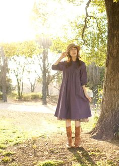 purple mori girl tunic dress