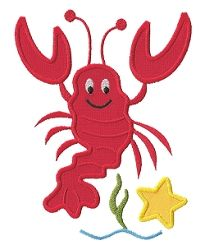 Lobster Applique - 3 Sizes! | Beach/Ocean | Machine Embroidery Designs | SWAKembroidery.com Applique for Kids