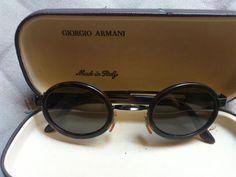 lunettes solaires Emporio Giorgio Armani ronde écaille Vintage Sunglasses