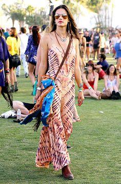 Alessandra Ambrosio au Festival de Coachella 2014