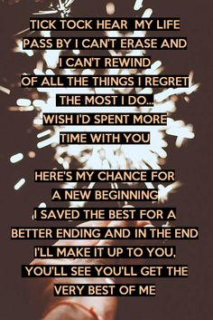 #lyrics #Skillet // One Day Too Late //  Today I'm gonna try a little harder Gonna make every minute last longer Gonna learn to forgive and forget 'Cause we don't have long, gonna make the most of it