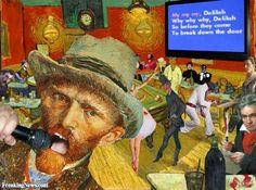 Vincent Van Gogh Singing at Karaoke Night