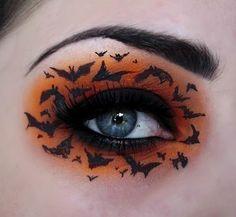 bats eye makeup
