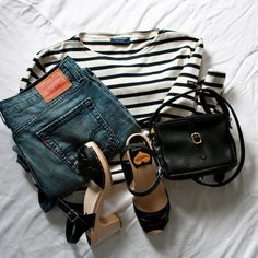 stripes, hasbeens, levis