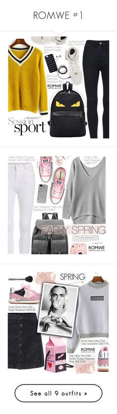 """""""ROMWE #1"""" by pokadoll ❤ liked on Polyvore featuring romwe, NIKE, Converse, Fujifilm, Benefit, Yves Saint Laurent, Bare Escentuals, Dolce&Gabbana, Garcia and esum"""