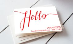 Hello Business Card Template by iloladesign on @creativemarket