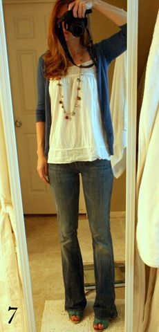 shirt: target, sweater: martin + osa, jeans: seven A pocket, shoes: payless