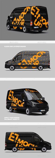 Premium Delivery Van Mockup