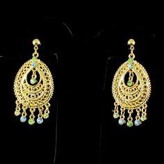 Ltd JOAN RIVERS Look of Gold Drop Dangle Crystal Chandelier #JoanRivers #DropDangle