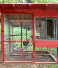 Cool chicken house by David Rosen, an Associate Producer at CBS News in New York. His goal, in addition to sheltering four egg-laying hens, was to design a structure that complemented his house, a modern barn in Rockland County.