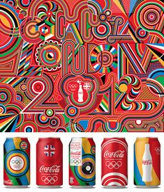 Matt W. Moore was commissioned by Attik UK to create the graphics for Coca-Cola's London 2012 Olympics branding.