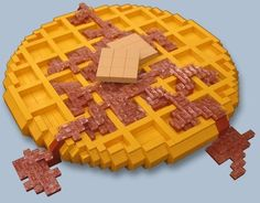 Build virtual snacks with LEGOS. --25 Clever Ways To Feed Your Inner Geek