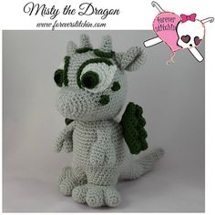 Misty the Dragon Crochet Pattern by Forever Stitchin