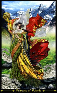 Princess of Wands-REVISED by *Elric2012 on deviantART illumination tarot. Love this one..power swiftness, come on let´s go