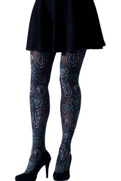bb202e762 Mantyhose Çorap Gipsy Paisley Jacquard Tights Gipsy Fashion