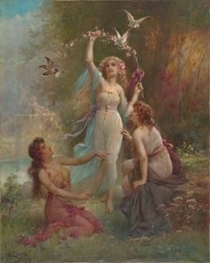 View Tre kvinner by Hans Zatzka on artnet. Browse upcoming and past auction lots by Hans Zatzka. Victorian Paintings, Renaissance Paintings, Victorian Art, Renaissance Art, Rococo Painting, Aesthetic Painting, Aesthetic Art, Classic Paintings, Art Hoe