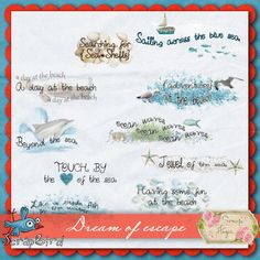 Dream of escape word art (PU) by Scrap'Angie