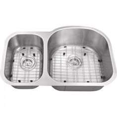All-in-One Undermount Stainless Steel 30x19x9 0-Hole Double Bowl Kitchen Sink