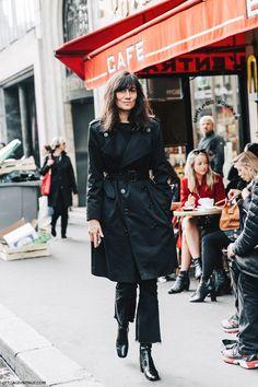 PFW-Paris_Fashion_Week-Spring_Summer_2016-Street_Style-Say_Cheese-Enmanuel_Alt-Trench_Coat-Black-1
