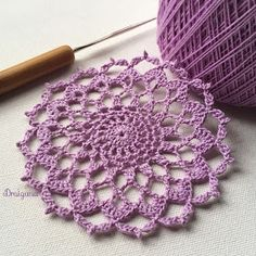 Hello Today I m sharing the pattern for this little doily called Arcane Aura It has 8 rounds and measures about 4 in diameter if u Free Crochet Doily Patterns, Crochet Doily Diagram, Crochet Circles, Granny Square Crochet Pattern, Crochet Patterns For Beginners, Crochet Motif, Crochet Stitch, Double Crochet, Crochet Home