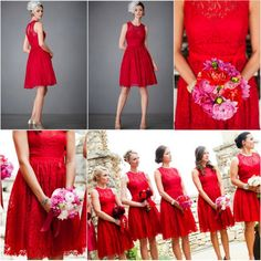 Cheap bridesmaid gown, Buy Quality red lace bridesmaids dresses directly from China lace bridesmaid dress Suppliers: Red Lace Bridesmaid Dresses Custom Made Sleeveless A Line Knee Length Ribbon Trim Keyhole Back Short Bridesmaid Gowns Royal Blue Bridesmaid Dresses, Red Bridesmaids, Prom Dresses Blue, Bridesmaid Gowns, Dresses 2014, Sequin Wedding, Wedding Dress, Bridesmaid Dresses Canada, Cheap Party Dresses