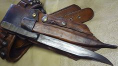 Primitive Buffalo Horn Bowie Knife, Black Powder Knife, Gamblers Knife | eBay