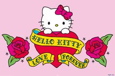 uhello kitty love forevver | Hello Kitty -Tattoo - Love Forever h Maxi Paper Poster