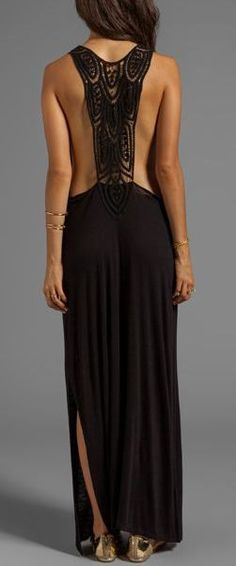 Lace Back Maxi Dress <3