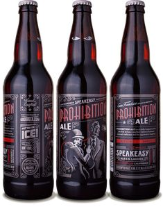 Speakeasy Ales & Lagers Prohibition Ale 22oz. - designed by Emrich Office